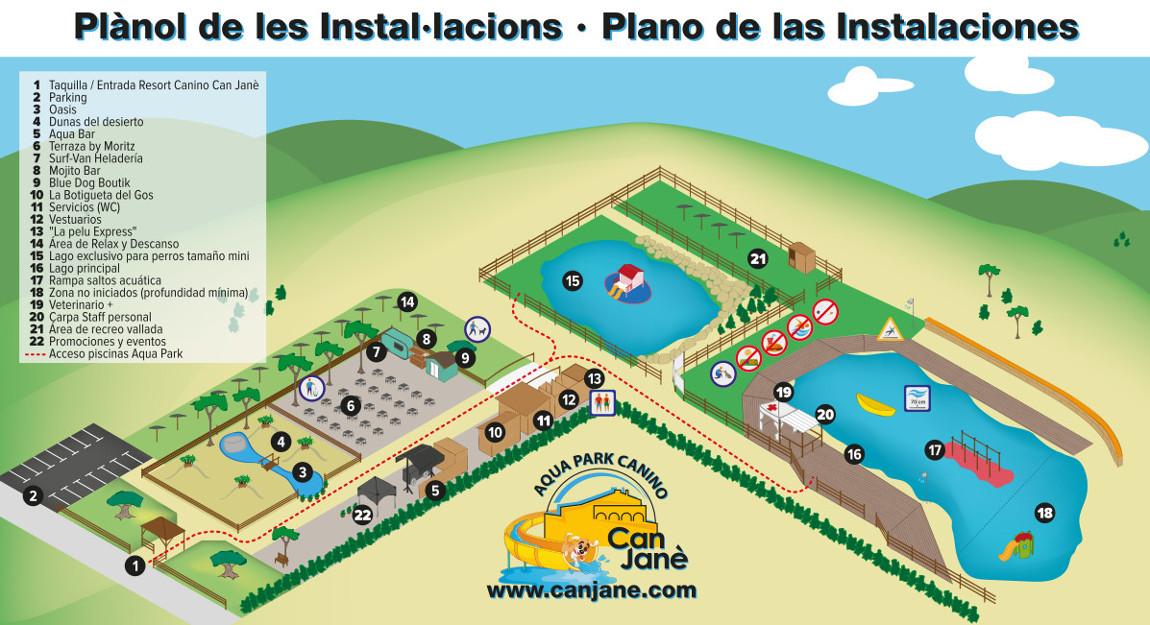Plano Instalaciones Aqua Park